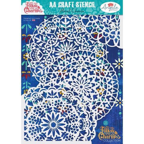 Трафарет - A4 Craft Stencil Angela Poole - Floral Charm