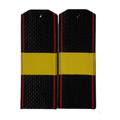 Погоны черные МП ст.сержант с шелковым галуном (пог. лента,на пластике)