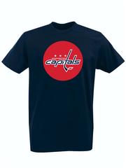Футболка с принтом НХЛ Вашингтон Кэпиталз (NHL Washington Capitals) темно-синяя 001