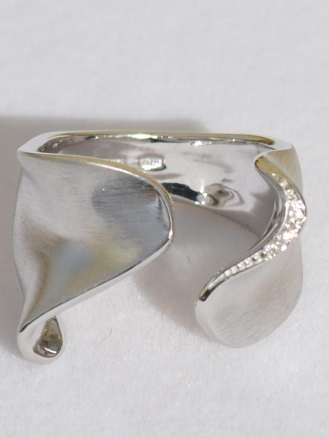 Фьюжен С (кольцо из серебра)