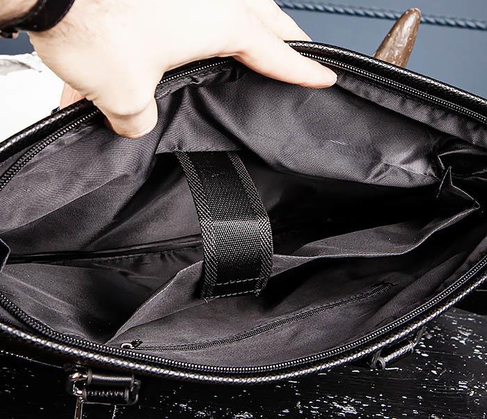 BAG533-1 Мужской портфель с ремнем на плечо фото 12