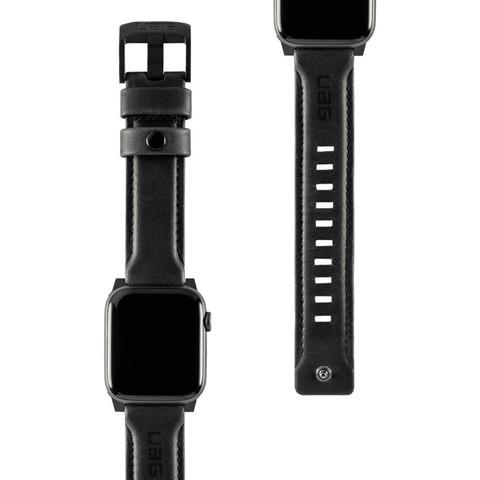 Ремень кожаный UAG для Apple Watch 44/42 черный (Black)