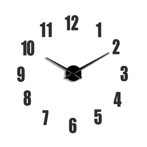 Настенные 3D часы большие самоклеящиеся ЧЗ ИДЕАЛ