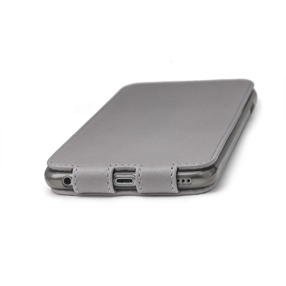 Чехол для iPhone 6/6S Plus из натуральной кожи теленка, светло-серого цвета