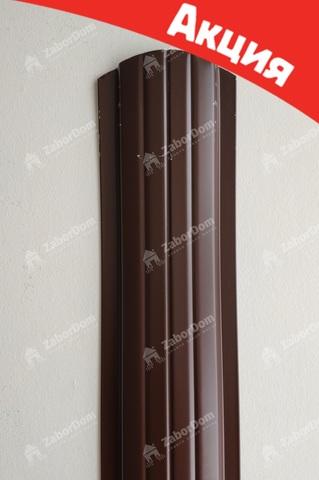 Евроштакетник металлический 110 мм RAL 8017 полукруглый двусторонний 0.5 мм