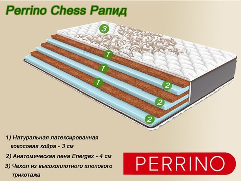Матрас Perrino Chess Рапид в Мегаполис-матрас