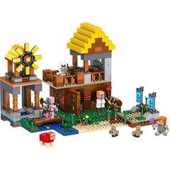 Майнкрафт 63031 Фермерский коттедж с мельницей 608дет Конструктор