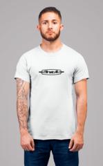 Мужская футболка с принтом ЗИЛ (ZIL) белая 001