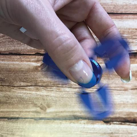 Спиннер металлический сюррикен голубого цвета srckn_001_blue