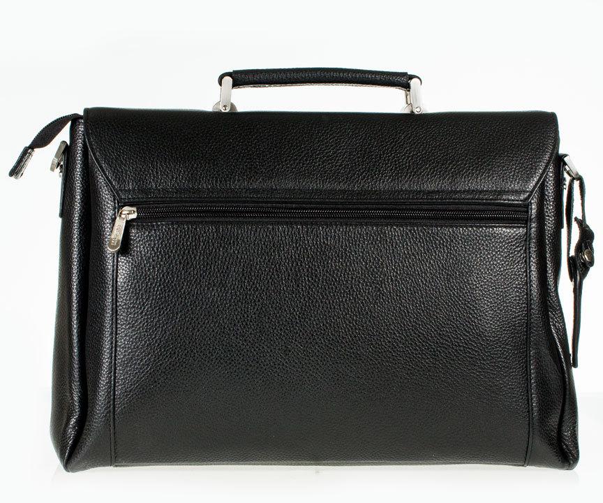 Мужской кожаный портфель Prensiti 009-227 black