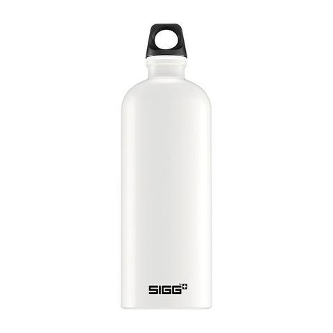 Бутылка Sigg Traveller (1 литр), белая (черная эмблема)