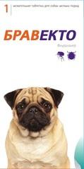Жевательная таблетка Бравекто (MSD Animal Health) Для собак массой 4,5–10 кг
