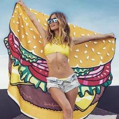 Пляжное полотенце-покрывало  Гамбургер