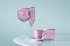 Набор из 2 бокалов-флейт для шампанского Sorbet, 225 мл, розовый, фото 2