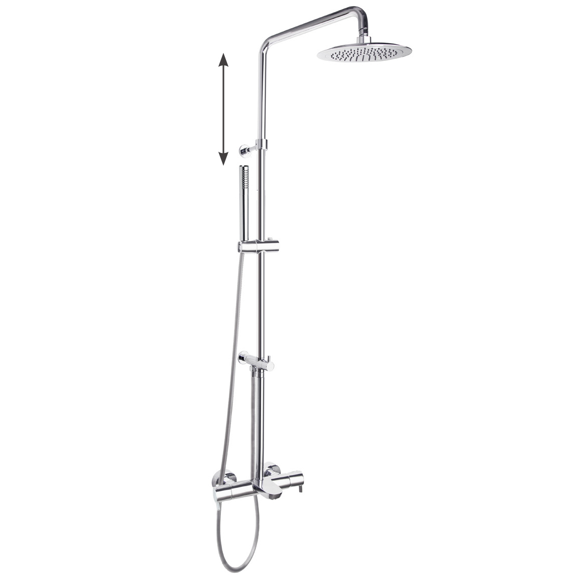 Душевая система с термостатом и тропическим душем для ванны DRAKO 335602RP300