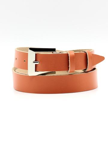 Женский кожаный оранжевый ремень 25 мм Coscet WW25-1-2