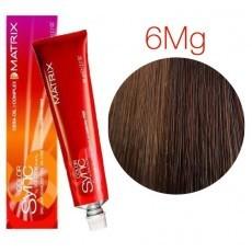 Matrix Color Sync: Mocha Gold 6MG темный блондин мокка Золотистый, крем-краска без аммиака, 90мл