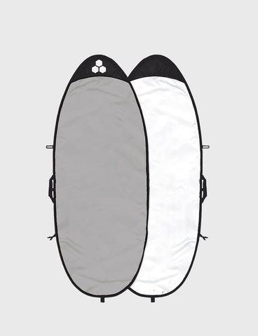 Channel Islands 8'6'' Feather Lite Longboard Bag, White/Silver