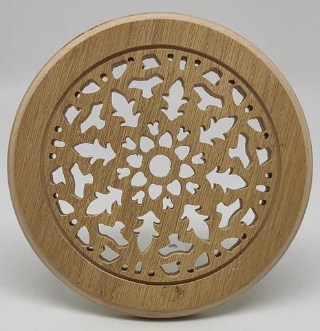 Решетка декоративная деревянная круглая на магнитах Пересвет К-33 d100мм