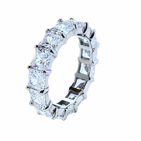 47951  - Кольцо-дорожка из серебра с цирконами огранки принцесса