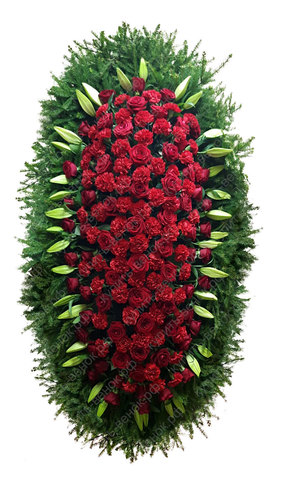Траурный венок из живых цветов ВЖ 26
