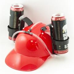 Каска с подставками под банки пива, Красная, фото 3