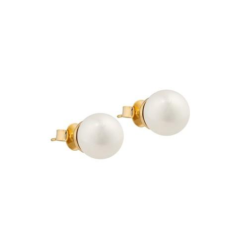 Пусеты White Pearl A0656.1 BW/G