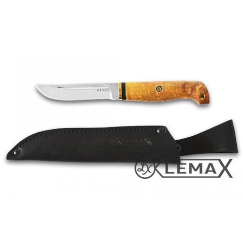 Нож Рыбак сталь ATS-34, стабилизированная карельская берёза