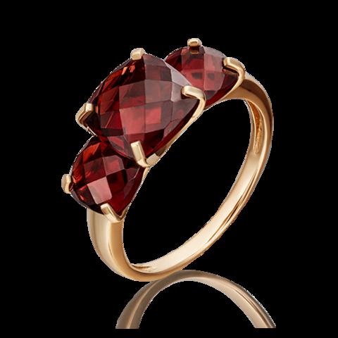 01-5392-00-204-1110-46- Золотое кольцо с гранатами