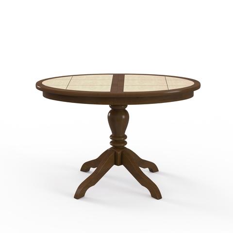 Стол обеденный Ромео овальный раскладной с плиткой дуб