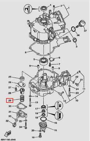 Компрессионная пружина для лодочного мотора F5 Sea-PRO(4-29)