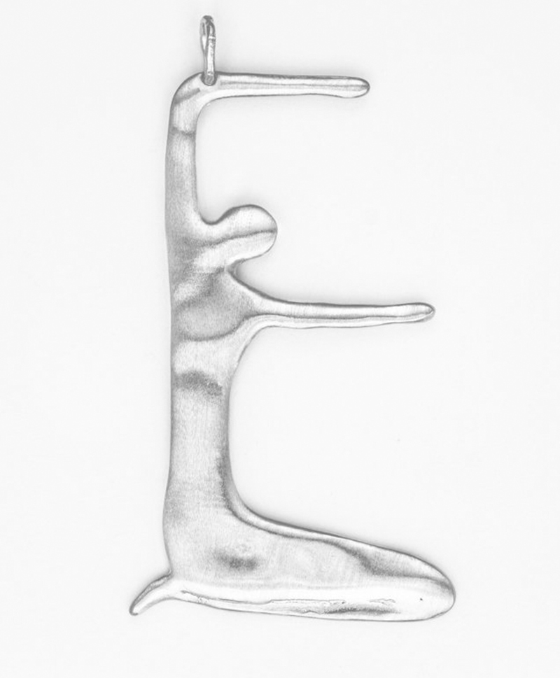 Подвески NUDE ALPHABET SILVER Medium