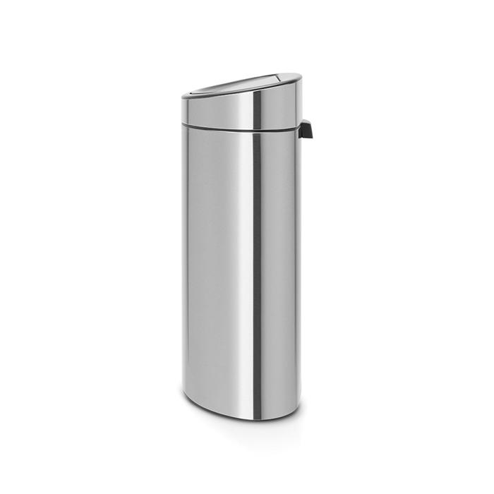 Двухсекционный мусорный бак Touch Bin New (10/23 л), Стальной матовый, арт. 100680 - фото 1