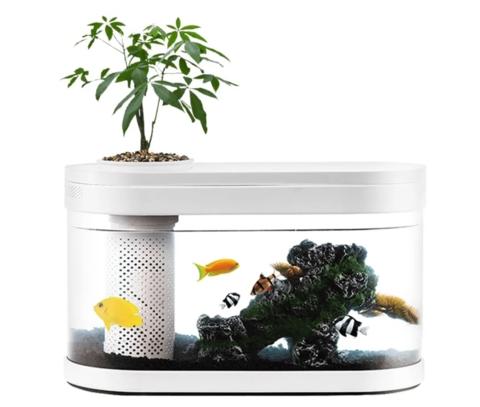 Акваферма 10 л (фильтр, крышка, грунт) Xiaomi Geometry Fish Tank Aquaponics Ecosystem (HF-JHYG001)
