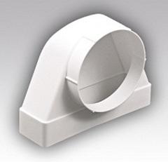 Соединитель угловой 204х60/125 ФП проходной пластиковый