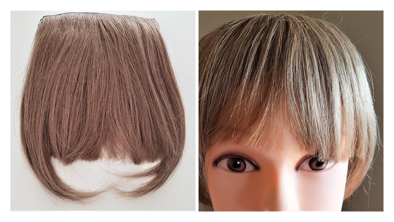 Накладная челка оттенок  #14-темный песочный блонд