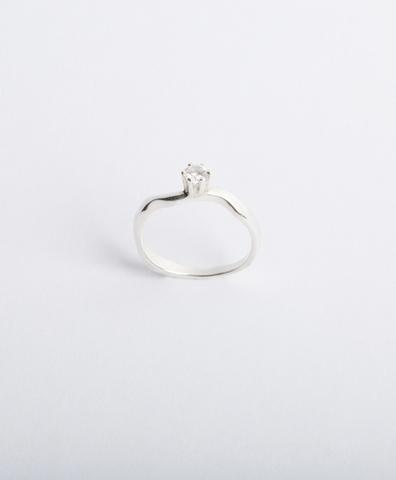 Кольцо Reunion I серебро, искусственный бриллиант