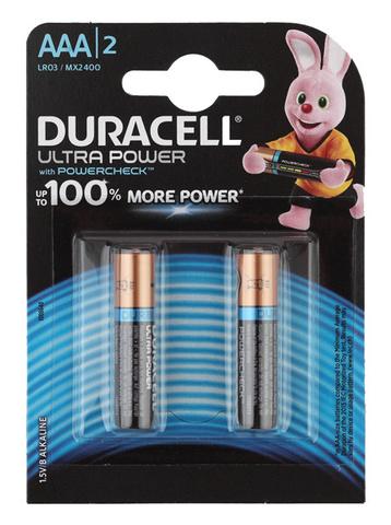 Батарея Duracell Ultra LR03-2BL MX2400 AAA (2шт)