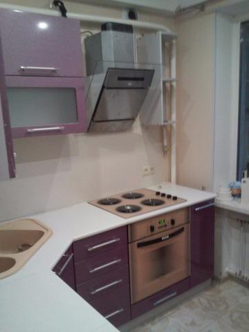 Кухня Олива раскомплект цвет: Сиреневый
