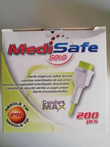 Ланцет MediSafe Solo  23G 2,0 мм, д/капиллярного забора крови №200 (HTL-STREFA, Польша)