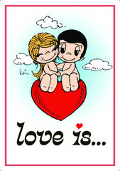 Açıqca\Открытки\Postcard Love is... 3