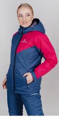 Утеплённая прогулочная лыжная куртка Nordski Premium Sport Raspberry/Denim женская