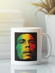 Кружка с рисунком Боб Марли (Bob Marley) белая 006