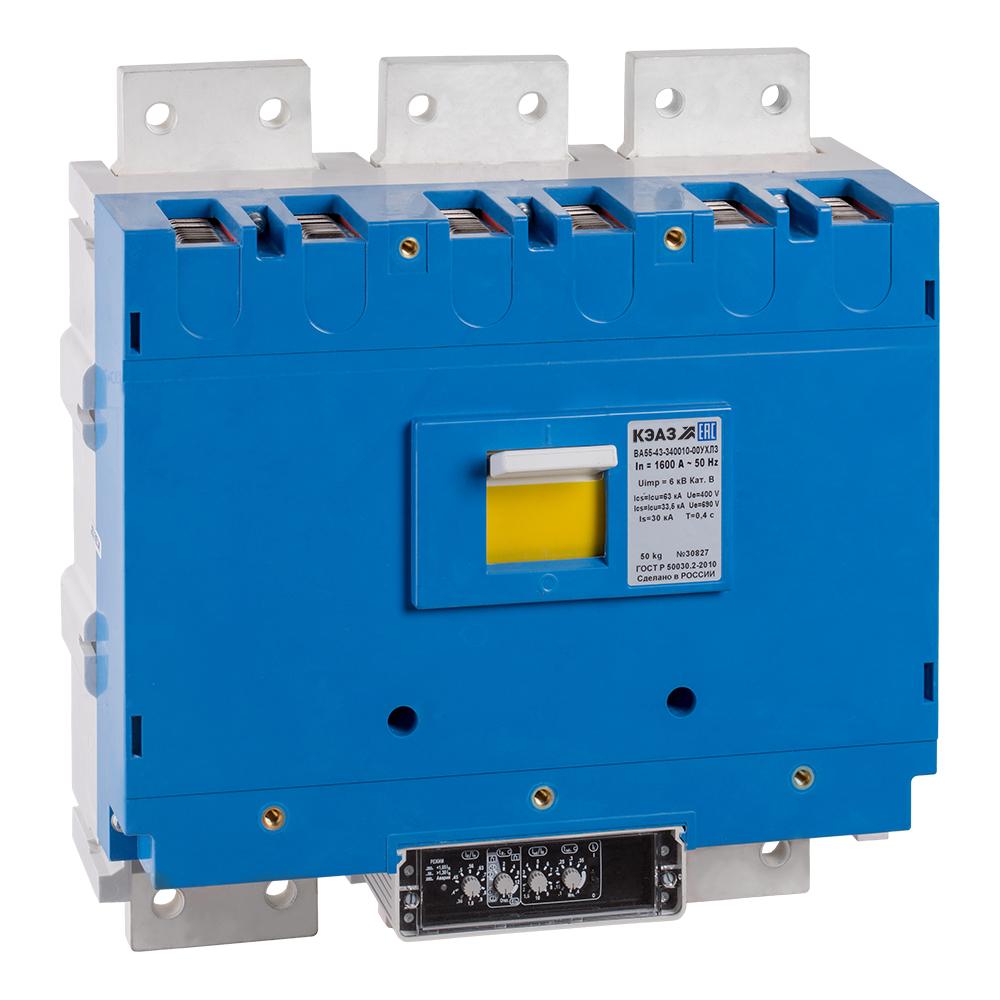 Выключатель автоматический ВА53-43-330010-1600А-690AC-УХЛ3-КЭАЗ