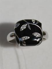 Кольцо с эмалью(кольцо из серебра).