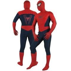 Костюм Человека-паука Deluxe Ultimate Spider-Man. Мужской тёмный из спандекса