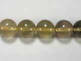 Бусина из флюорита желтого, шар гладкий 10мм