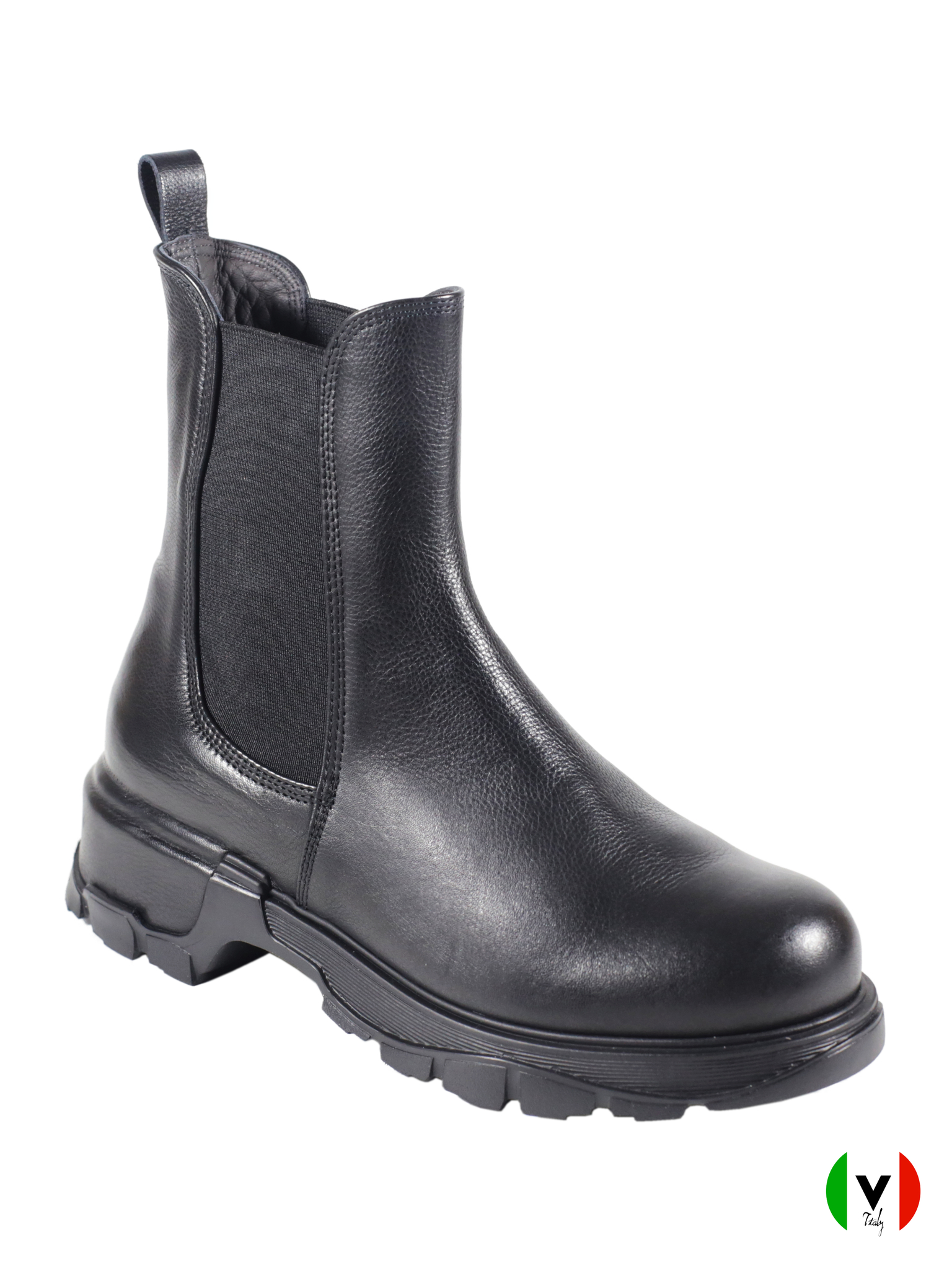 Осенние ботинки Fru.it с резиновыми вставками 5963, артикул 5963, цвет чёрный, материал кожа, цена 16 500 руб., veroitaly.ru