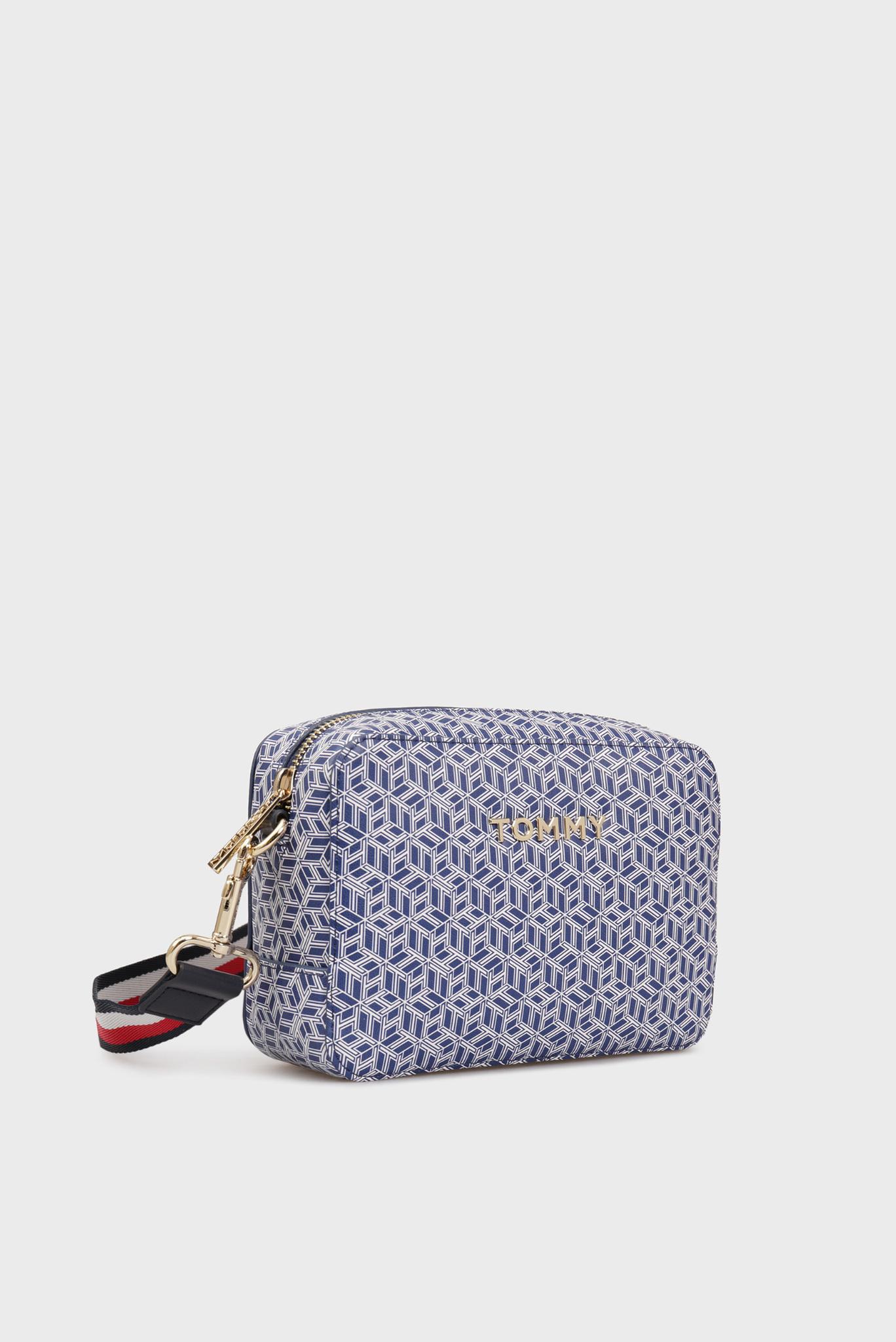 Женская синяя сумка через плечо с принтом ICONIC Tommy Hilfiger