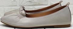 Женские кожаные туфли без каблука под платье Wollen G036-1-1545-297 Vision.
